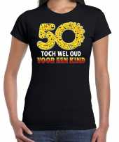 Funny emoticon 50 toch wel oud voor een kind cadeau shirt zwart