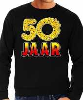 Funny emoticon sweater 50 jaar zwart heren
