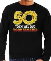 Funny emoticon sweater 50 toch wel oud voor een kind zwart heren