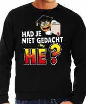 Funny emoticon sweater had je niet gedacht he zwart heren