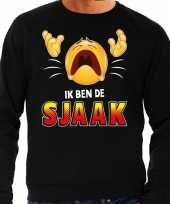 Funny emoticon sweater ik ben de sjaak zwart heren