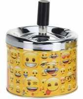 Gele draaiasbak met verschillende emoji s 10 cm type 1